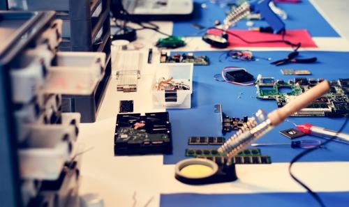 electronics workstation