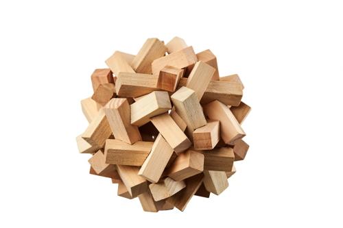 wooden logic puzzle